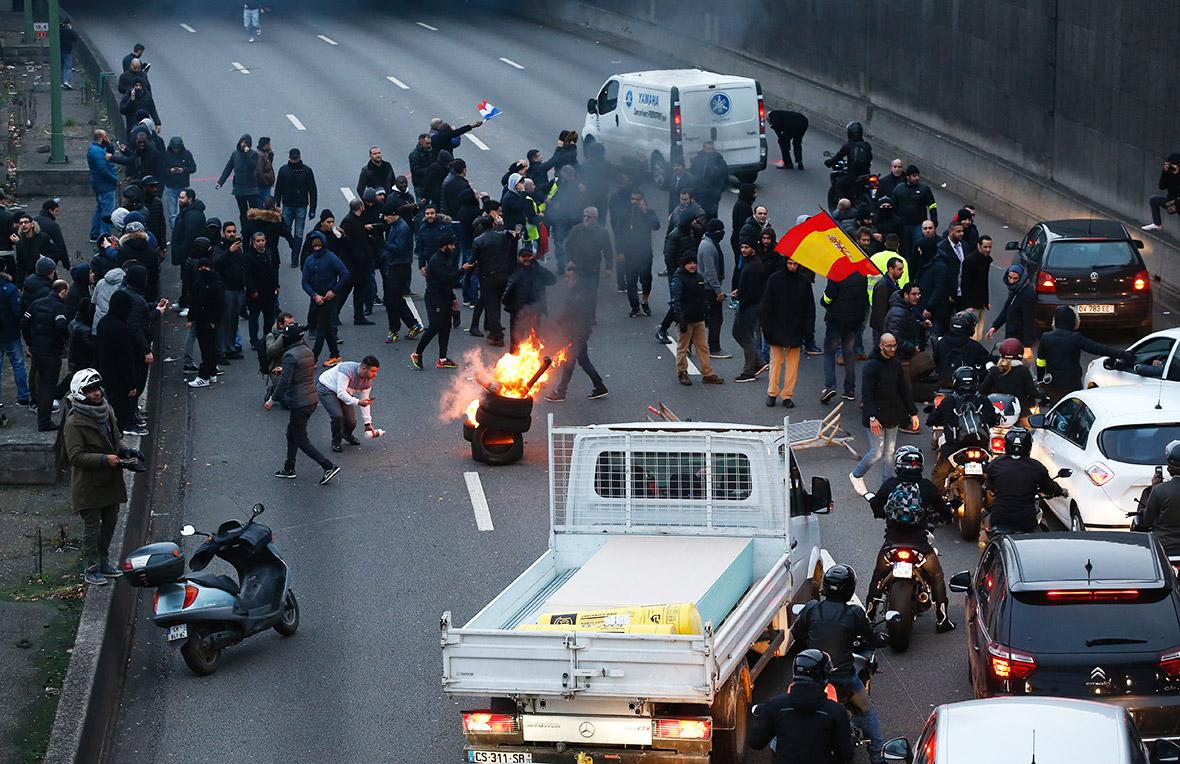 France taxi strike