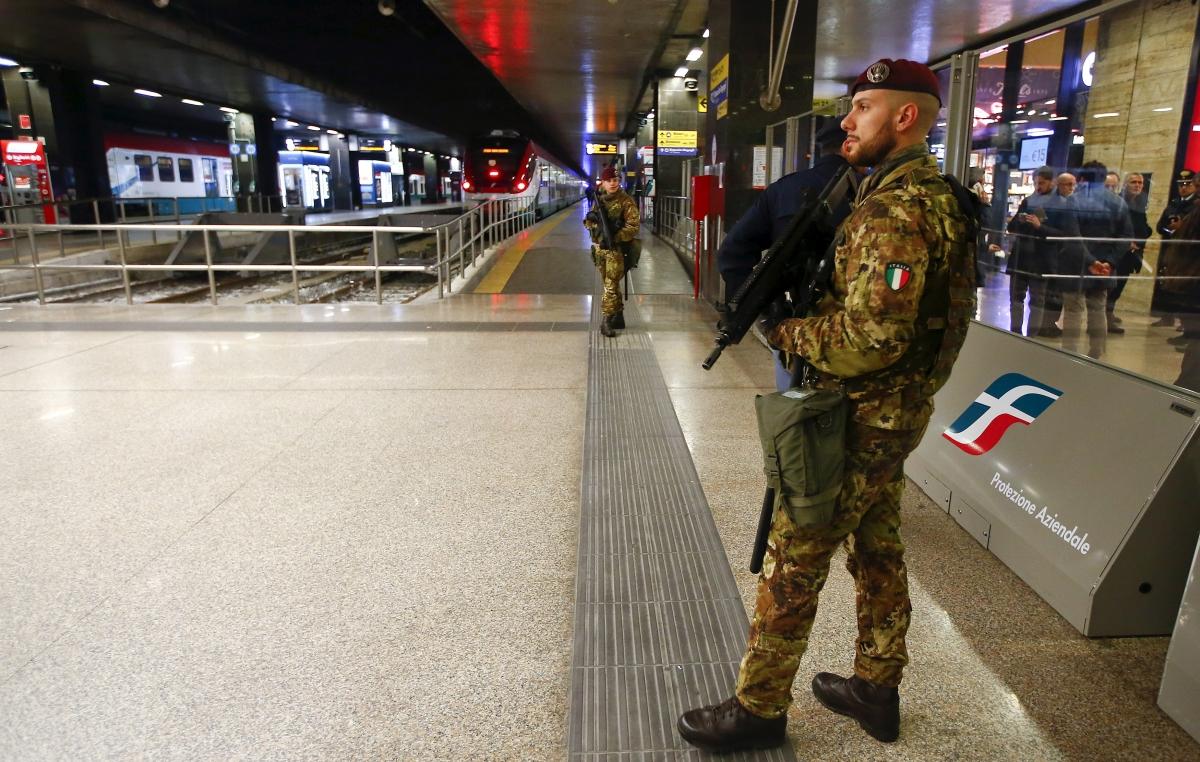 Terror Alert Rome Termini Station
