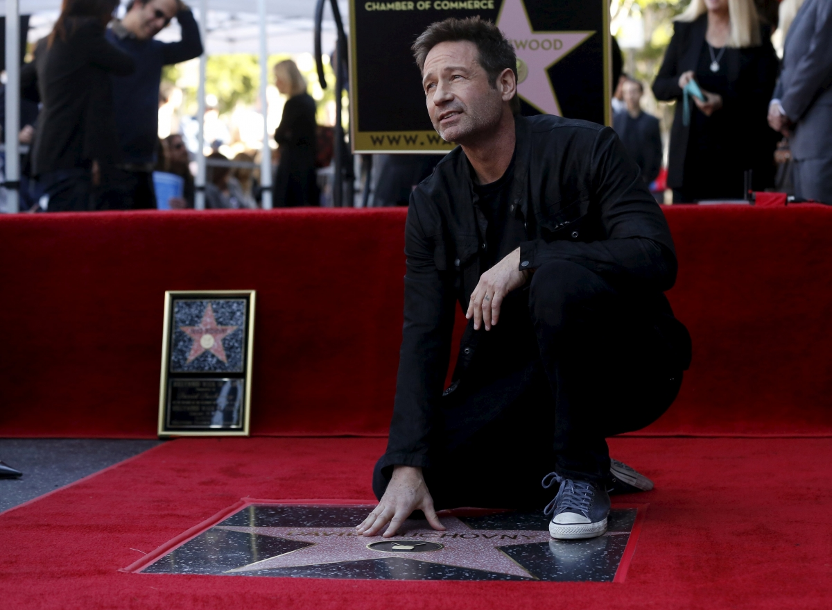 David Duchovny and his star