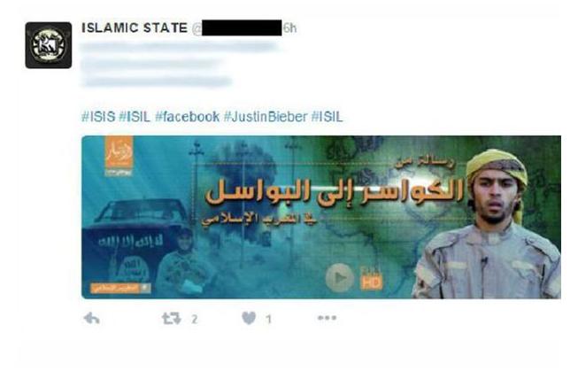 Isis Justin Bieber Twitter