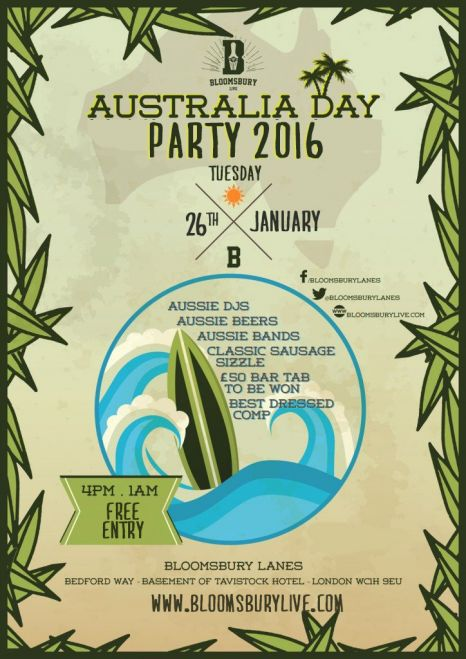 Australia Day where to celebrate in london