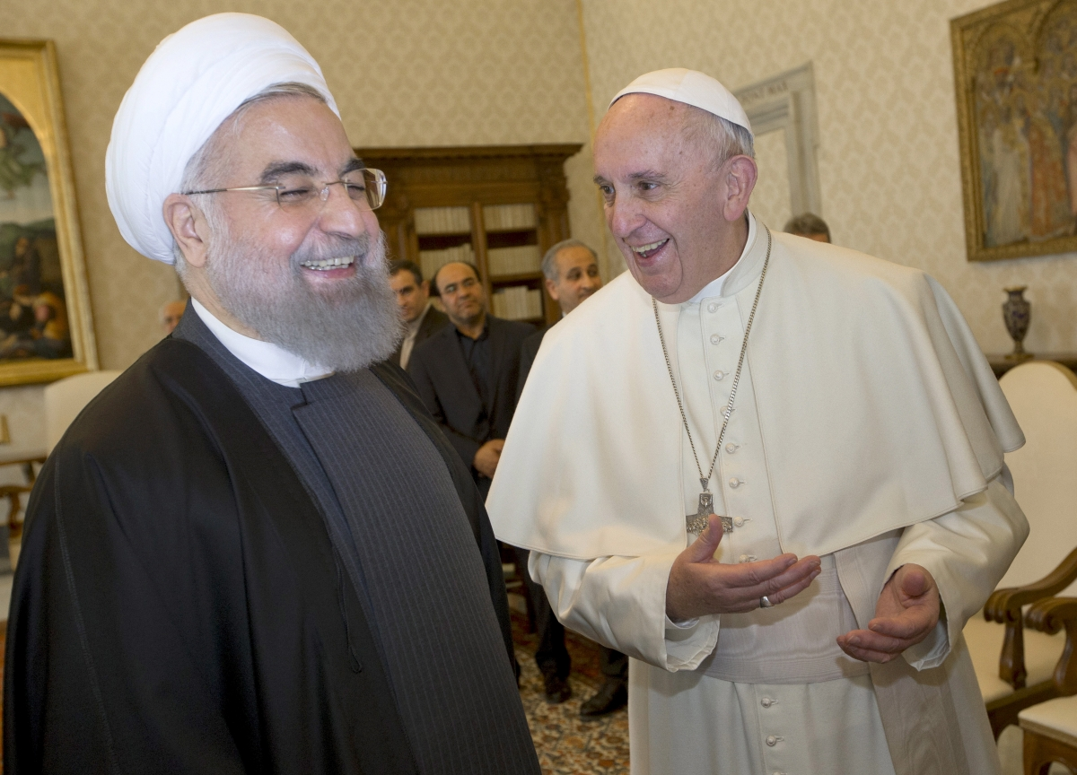 Hassan Rouhani Pope Francis meeting