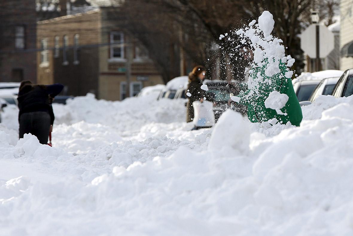 Snow aftermath USA