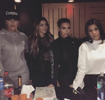 Khloe,Larsa Pippen, Kim and Kourtney