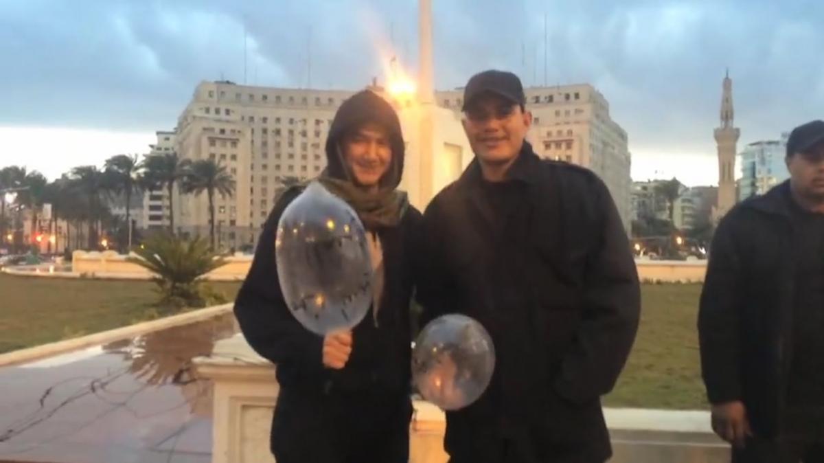 Egyptian condom protest