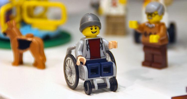 Lego wheelchair figure