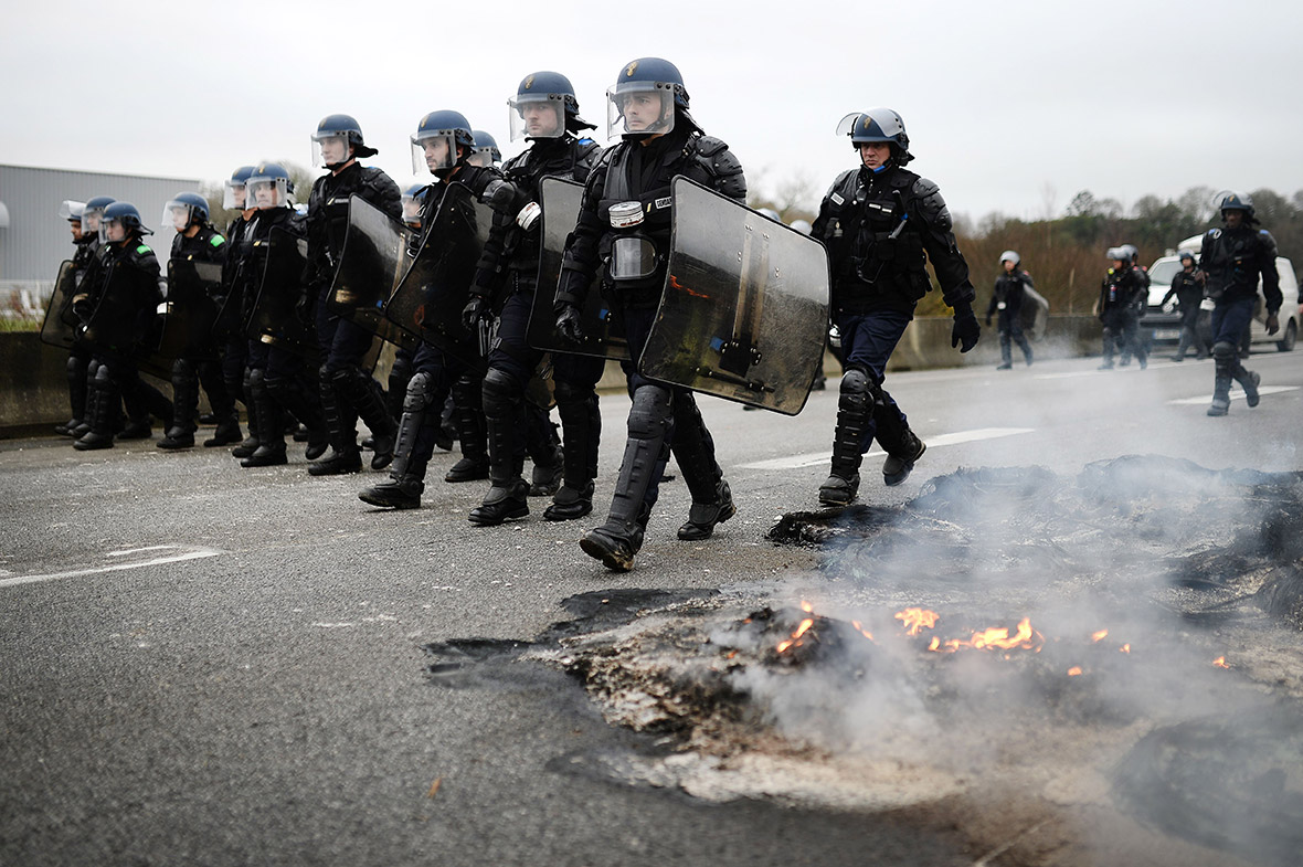 Farmers protest, France