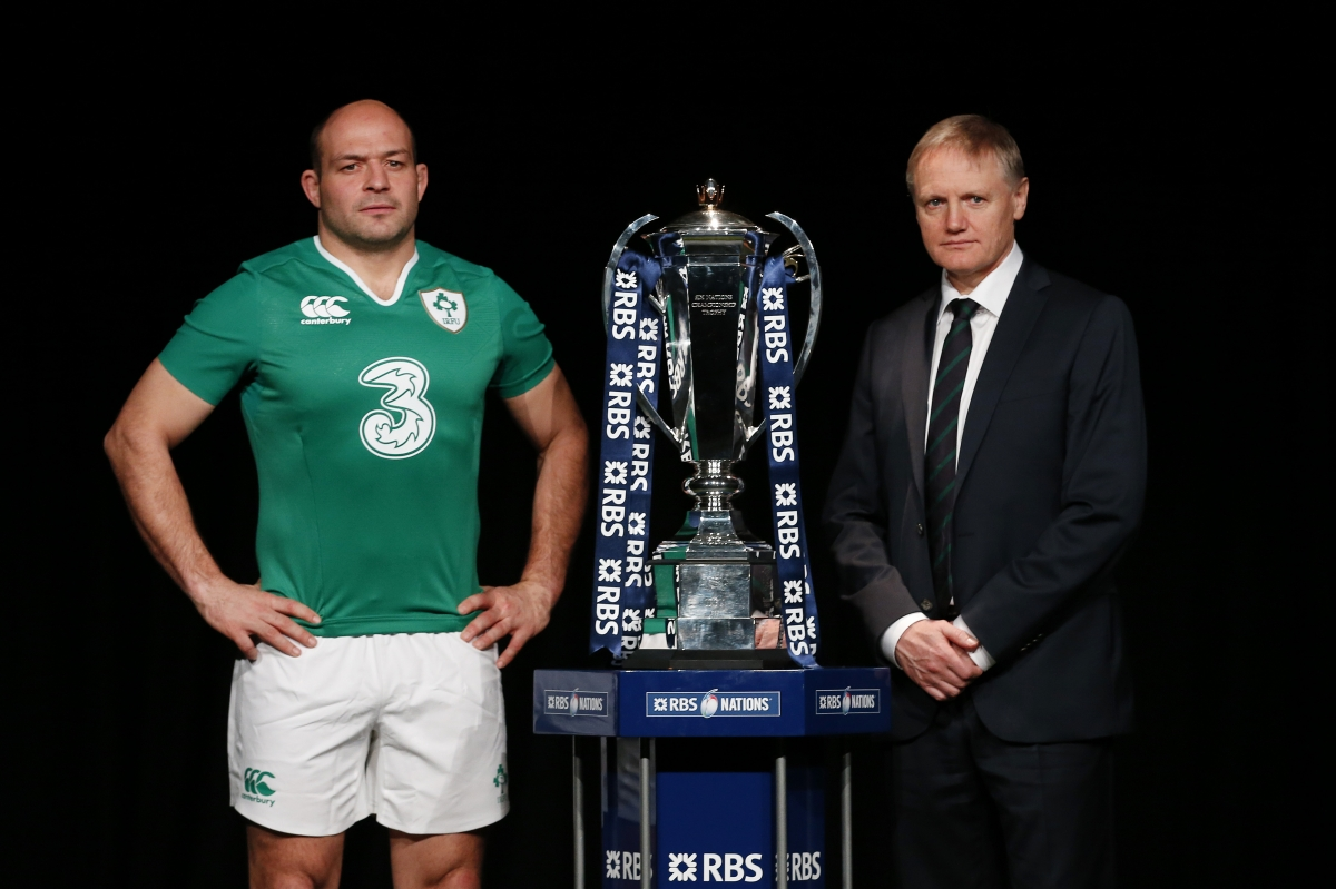 Rory Best with Six Nations cup