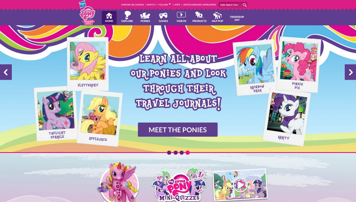 My Little Pony: Friendship is Magic website