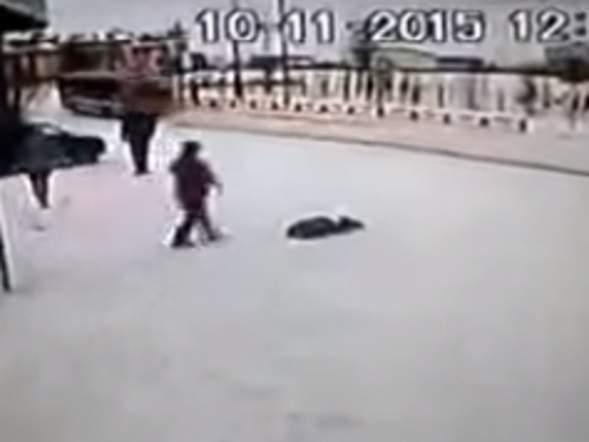 Russian Woman Attacks Son