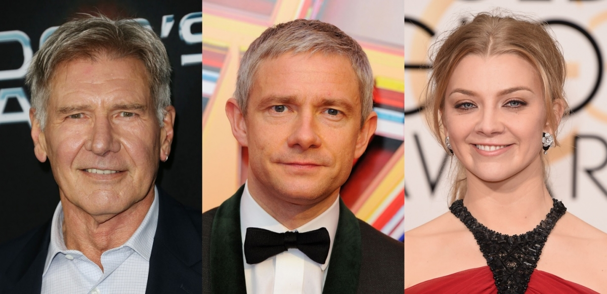 Harrison Ford, Martin Freeman and Natalie Dormer