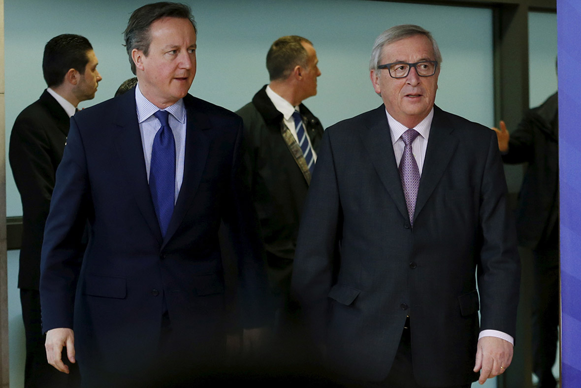 David Cameron Jean-Claud Juncker