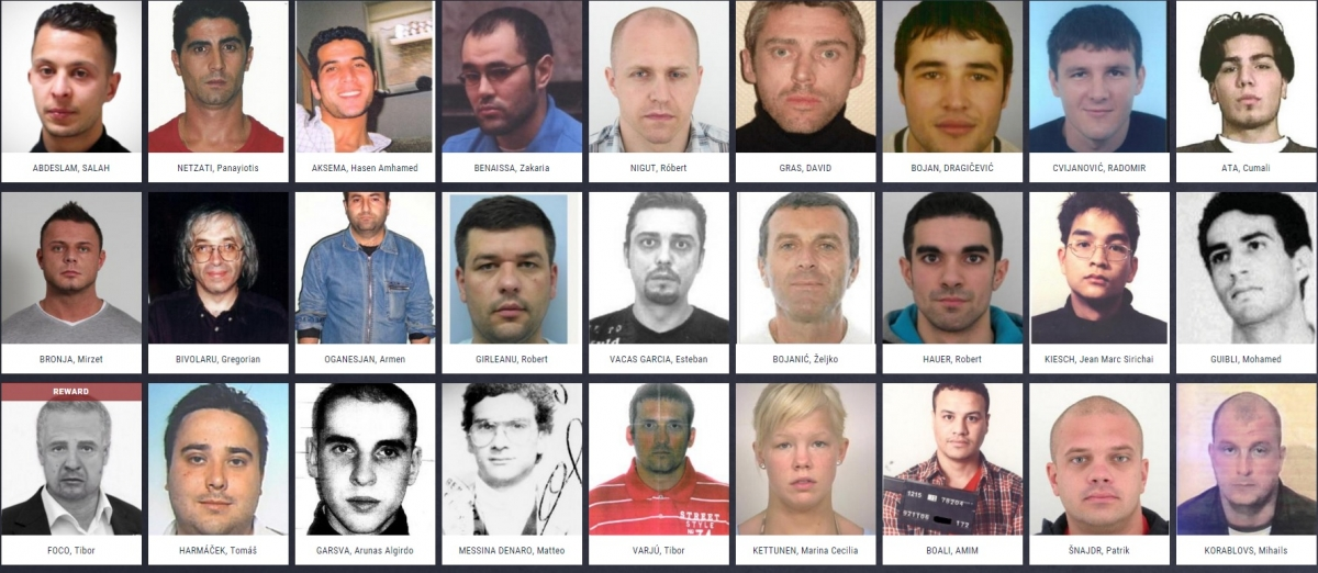 Europe's Most Wanted men