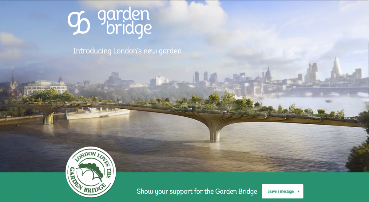 Garden Bridge project in London