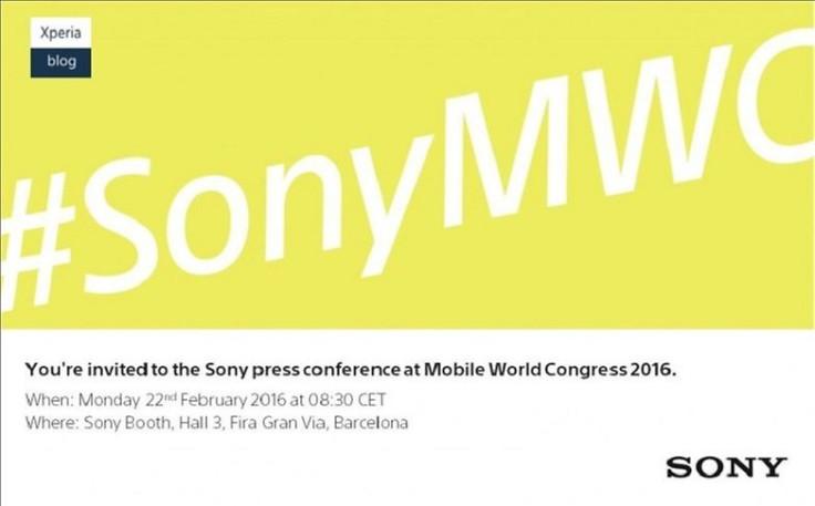 Sony MWC invitation