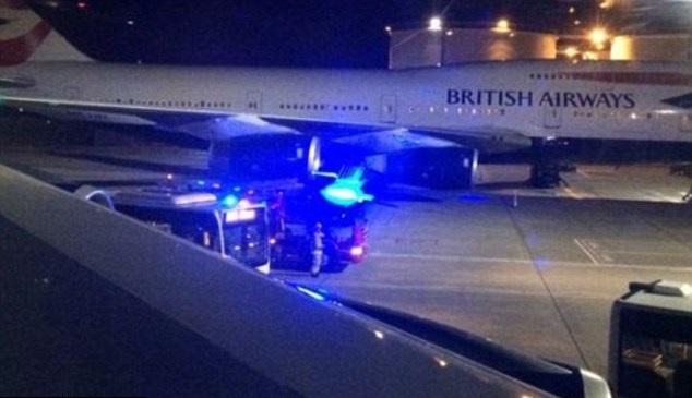 BA flight emergency landing