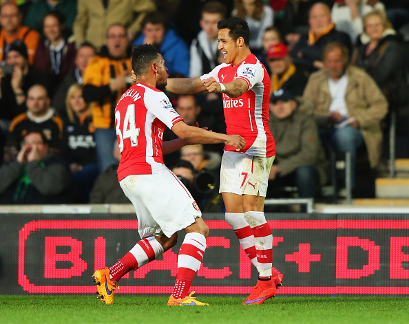Alexis Sanchez and Francis Coquelin