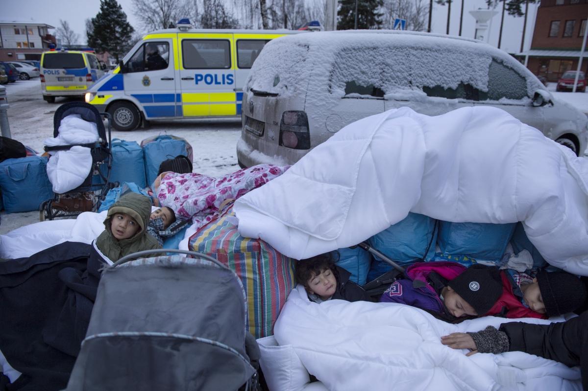 Refugee children Stockholm