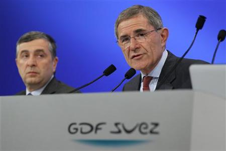 Jean-François Cirelli, Vice-Chairman and President and Gerard Mestrallet, Chairman & Chief Executive Officer of French group GDF Suez