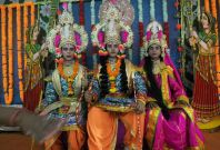 Lord Ram, Laxman and Sita