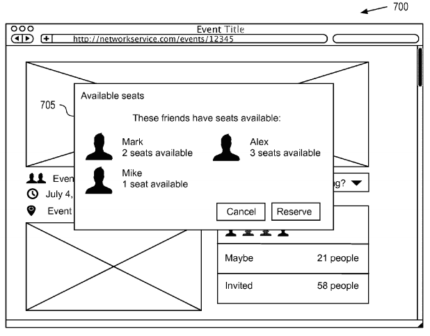 Facebook ride-share patent
