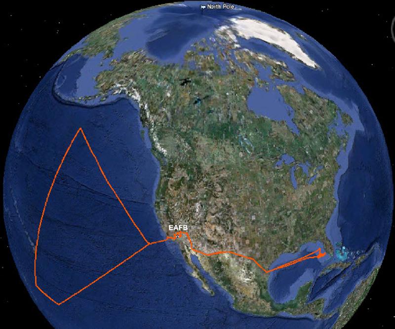 NASA drone hijack map