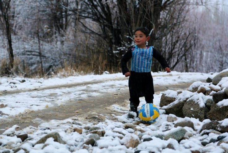 Afghan child Messi fan