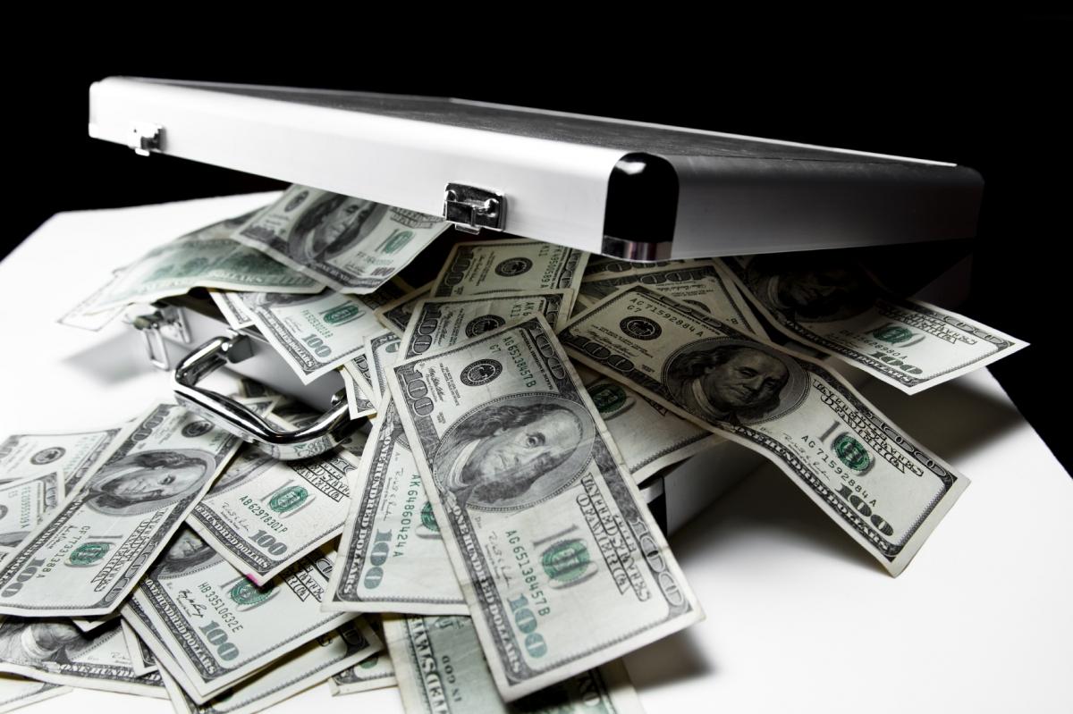 suitcase of money