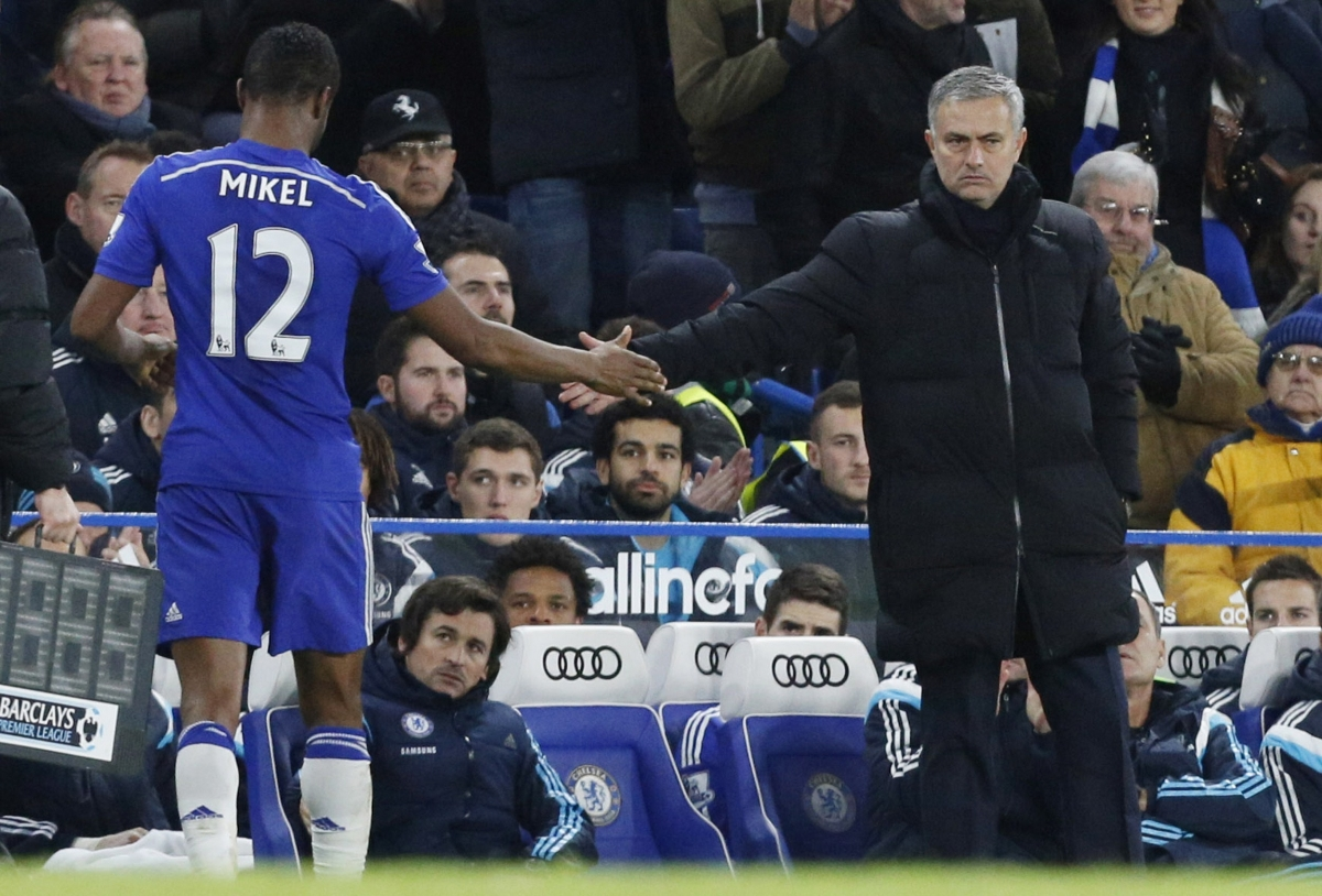 John Obi Mikel and Jose Mourinho