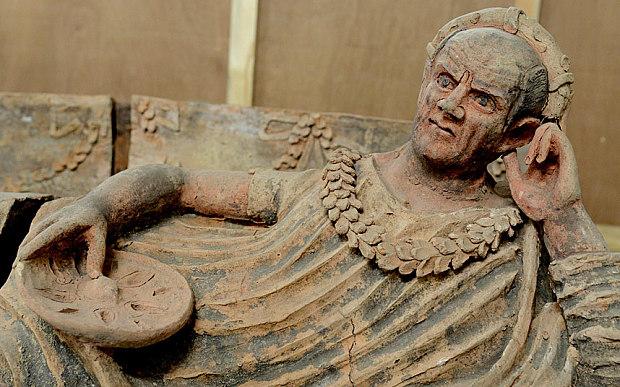 Ancient Etruscan sarcophagus