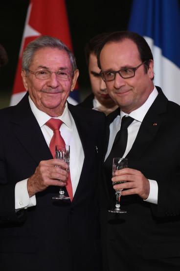 Cuba's Raul Castro in Paris