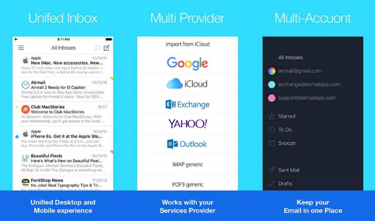 Airmail app pampers iOS users with choices