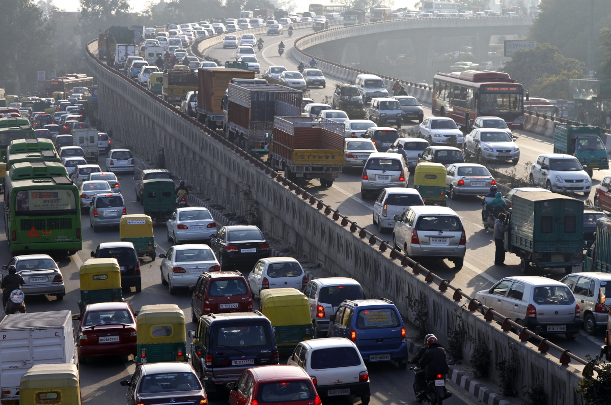 Traffic jam India