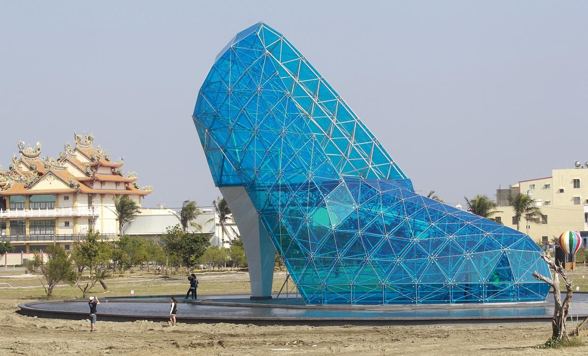 Giant Glass Shoe