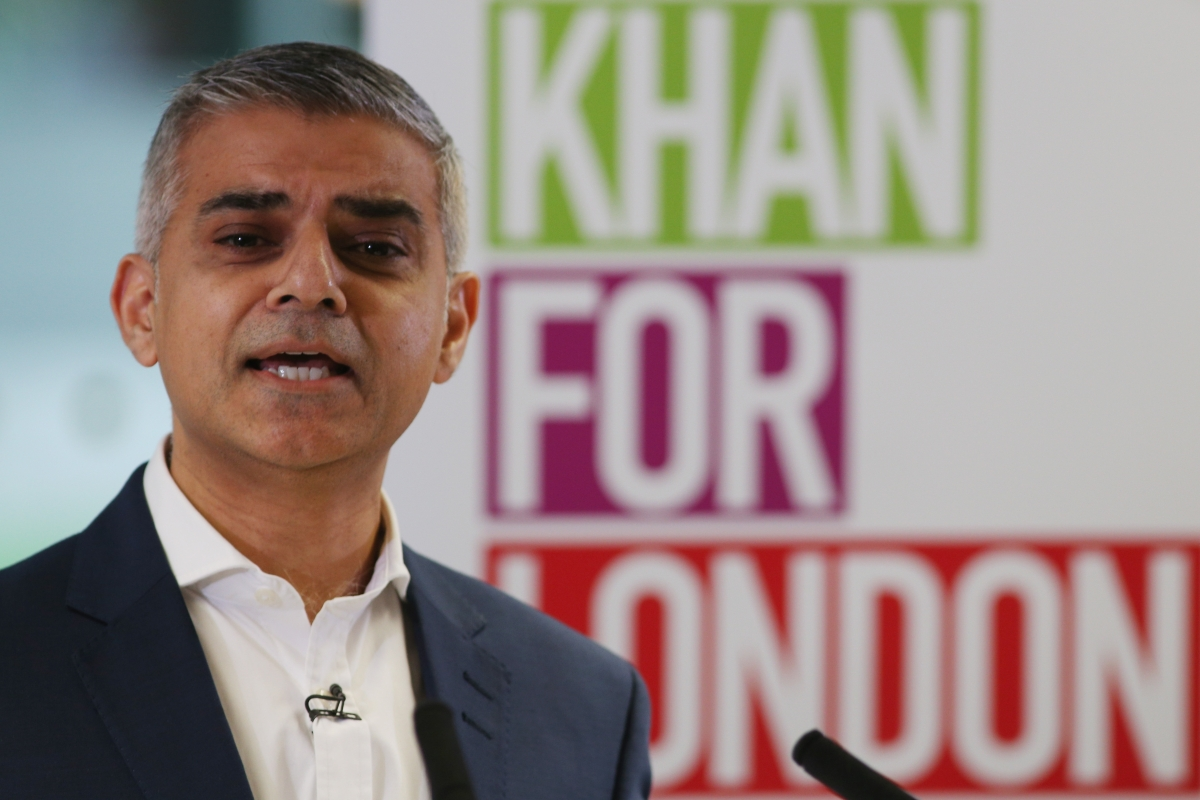 Sadiq Khan London mayor election 2016