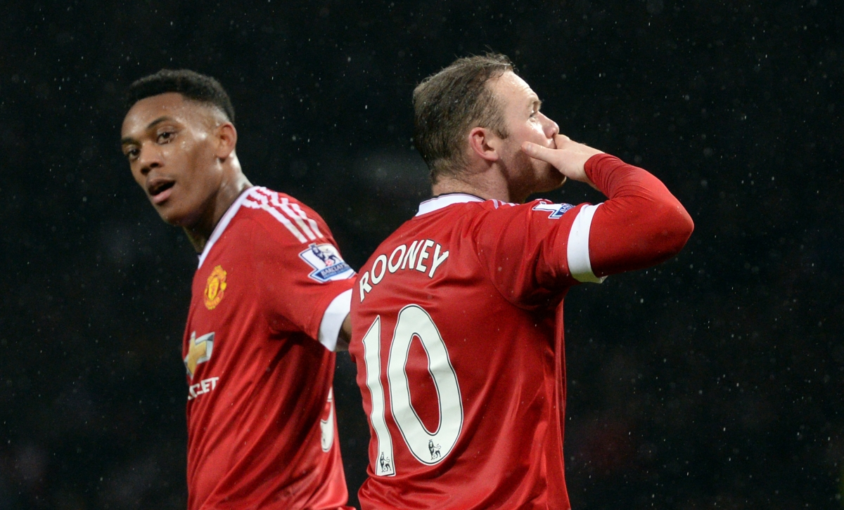 Anthony Martial and Wayne Rooney