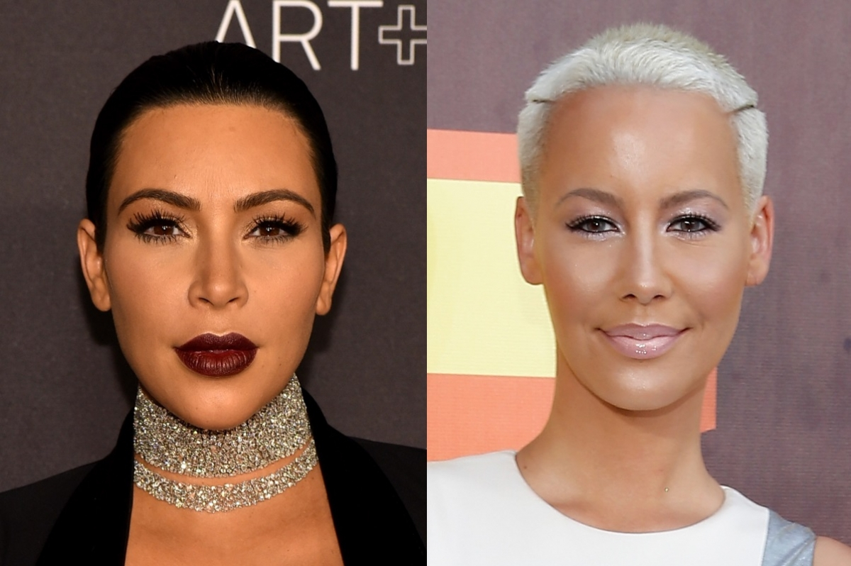 kim kardashian and amber rose reconcile over instagram