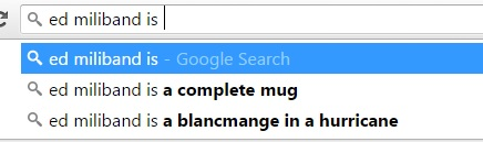 Ed Miliband Google search suggestions