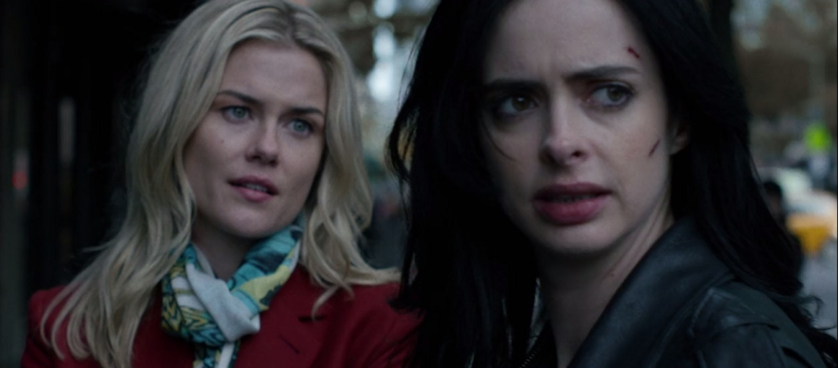 Trish Walker and Jessica Jones