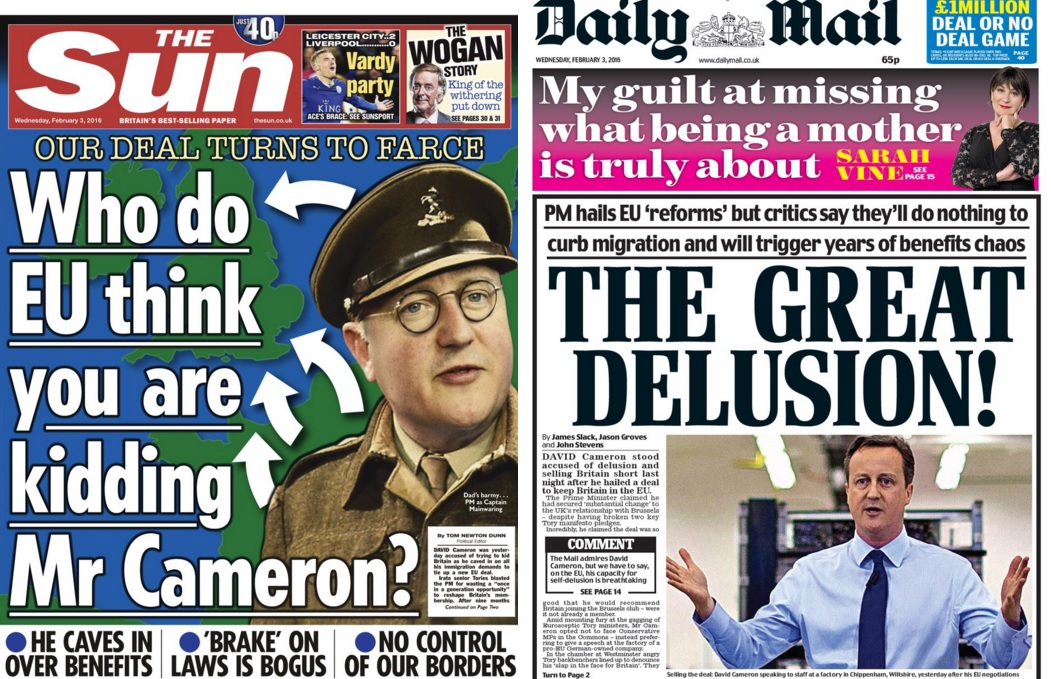 The Sun and Daily Mail