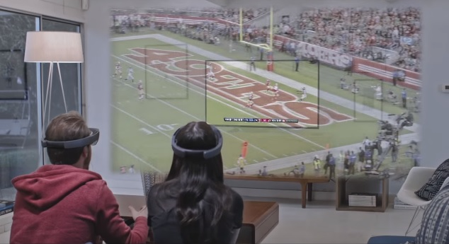 Microsoft HoloLens NFL Super Bowl