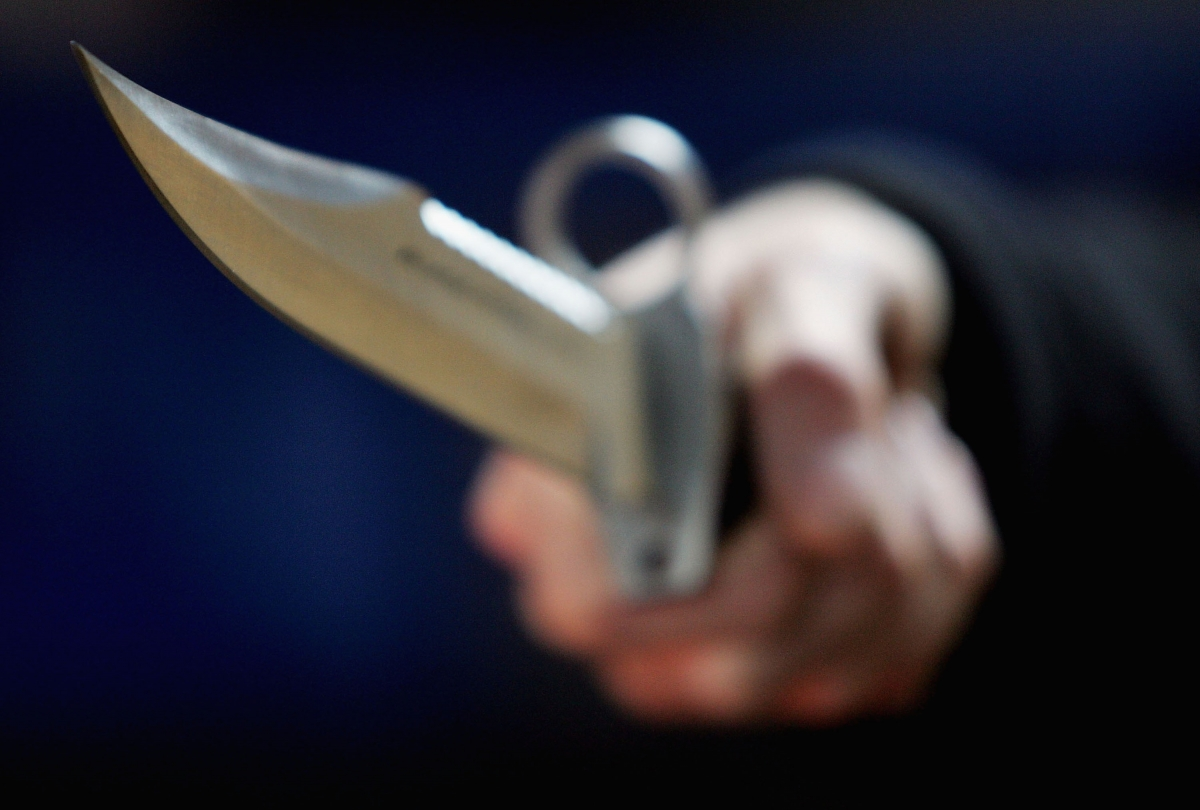Knife stabbing