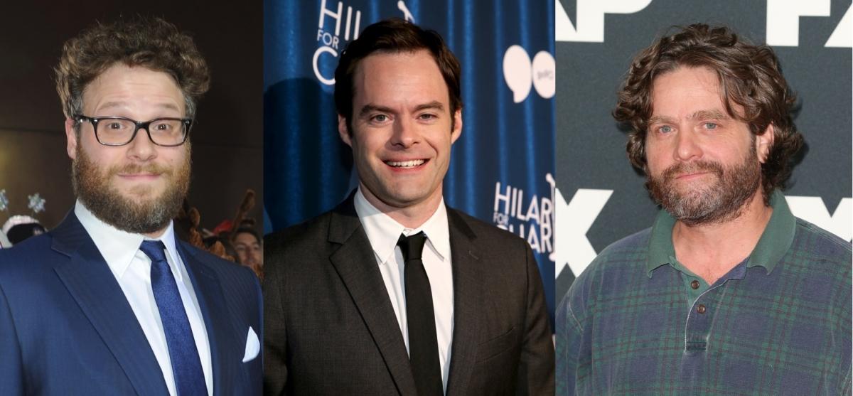Seth Rogen, Bill Hader and Zach Galfianakis