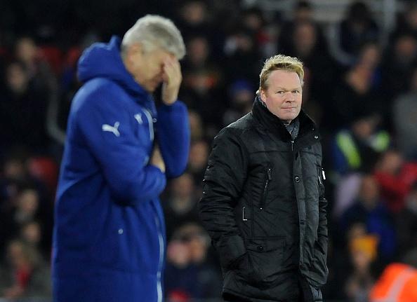 Arsene Wenger and Ronald Koeman