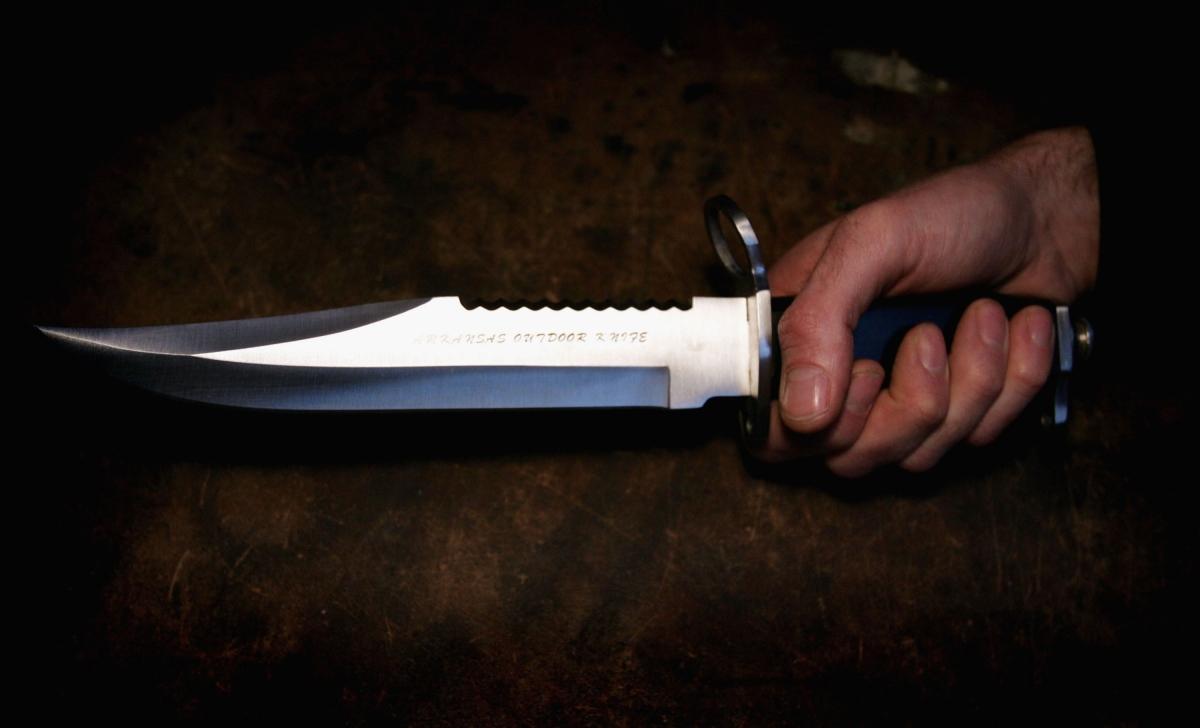 Knife stab
