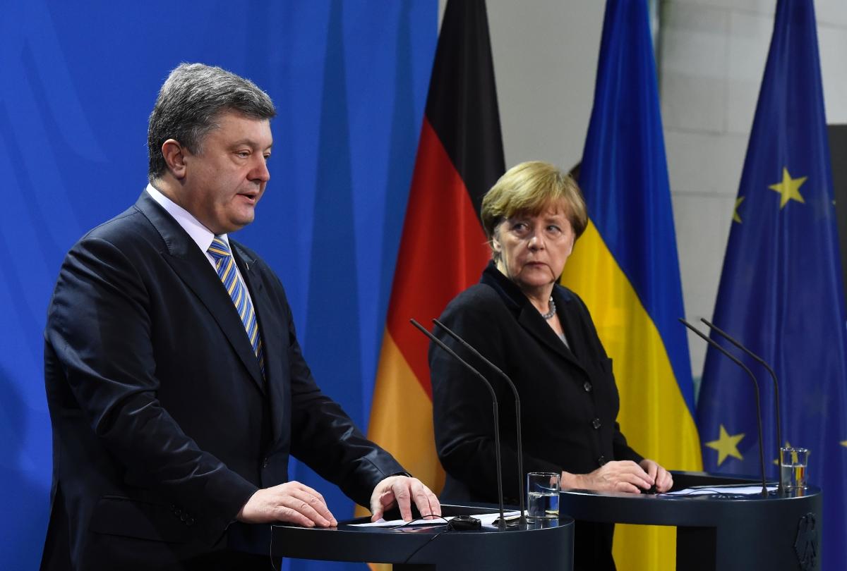 Poroshenko Merkel