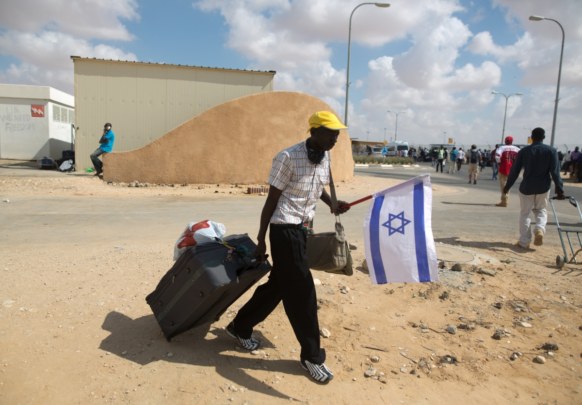 Migrant at Holot Detention Centre