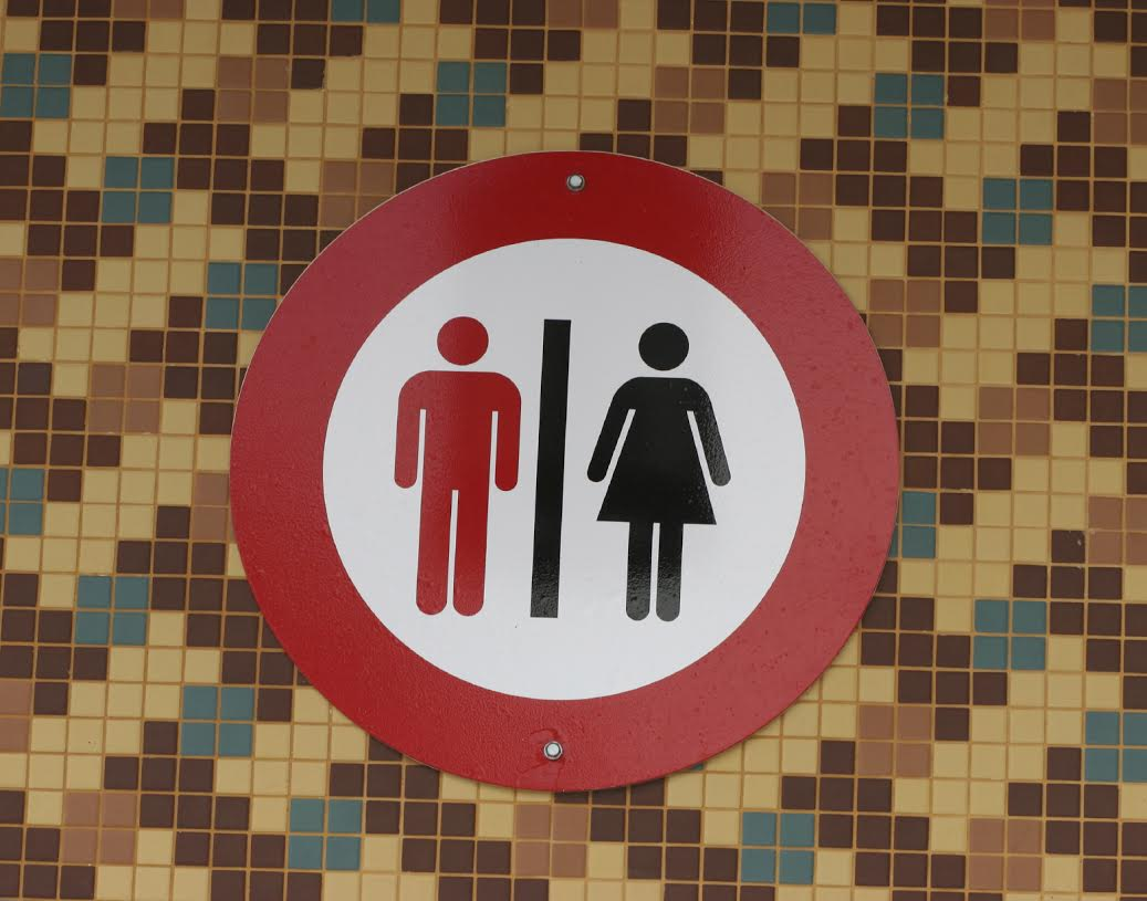 Male and female toilets