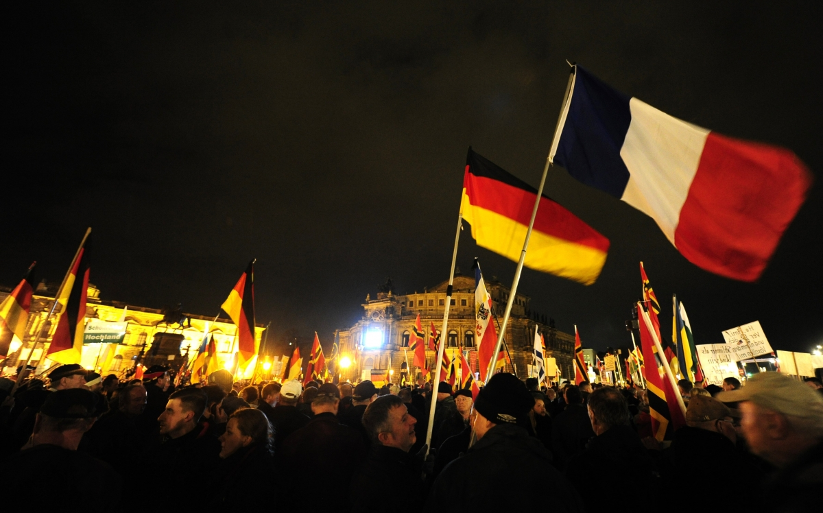 A Pegida rally in Dresden