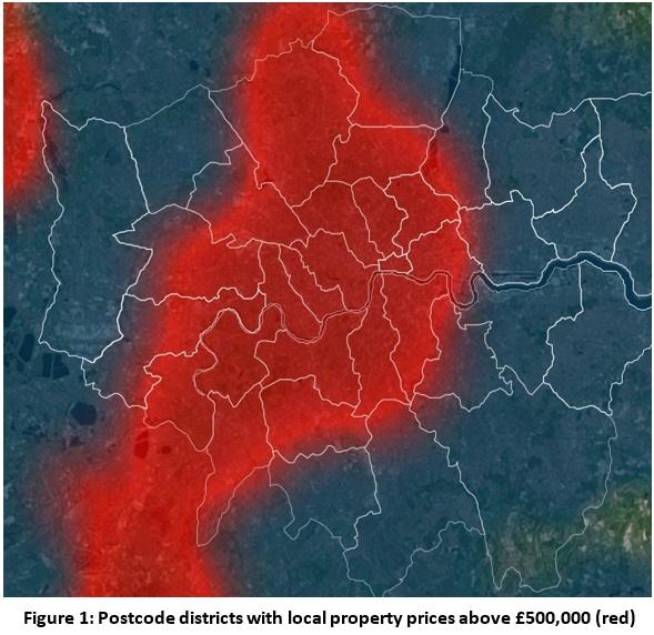 London house prices: Majority of city's postcodes are now 'half-a